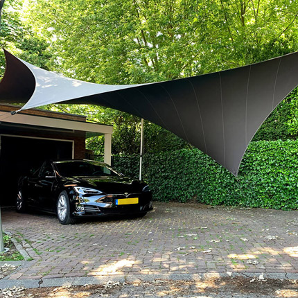 Protect your vehicle with a textile carport