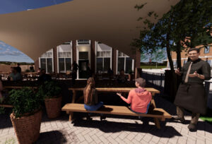 Our textile roof solution is the best way to cover your patio area.